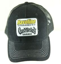 Havoline Gas Monkey Garage Black Snapback Trucker Cap Mesh Hat