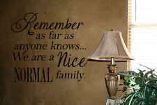 A NICE NORMAL FAMILY HOME WALL DECAL LETTERING WORDS HOME STENCIL WALL ART QUOTE