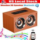 Wooden Portable Bluetooth Speaker Wireless Retro Bluetooth 3D Dual Loudspeaker