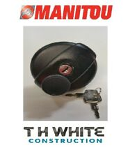 Manitou/New Holland Con Cerradura Tapa de combustible 257027 Mt del MIT. TM T6 T7 TS