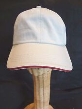 LIGHT TAN Golf Ball Cap RED BILL TRIM ~ One Size ~ Adjustable ~ Curved Bill~NWOT
