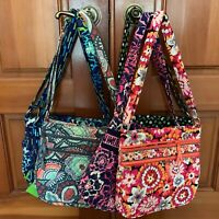 Vera Bradley TRIPLE ZIP HIPSTER cross body purse bag shoulder tote  Retired