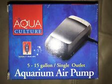 Aquarium Air Pump 5-15 gallon<>Aqua Culture<>NIB<>Single outlet