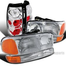 For 1999-2003 Sierra 1500/2500/3500 Headlights+Bumper Signal Lamps+Tail Lamps