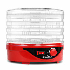 5 Star Chef FD-BT5-1142-RD Food Dehydrator with 5 Trays - Red