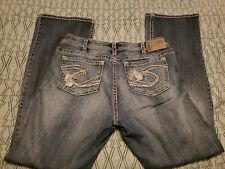 Silver Jeans Tuesday Size 16 16/33 Lace Distressed Excellent (d)