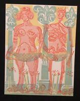 HAP Grieshaber, Die Herzogin, Holzschnitt aus dem Totentanz von Basel, 1966