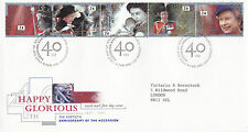 6 FEBRUARY 1992 HAPPY & GLORIOUS 40th ACCESS RM FIRST DAY COVER LONDON SW1 SHS a