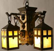 Vintage Bradley And Hubbard Monk Face Chandelier Arts And Craft Chandelier