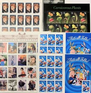 US Postage Lot: Self Adhesive Stamps Full Sheets (400 x 34¢) - $136 FV