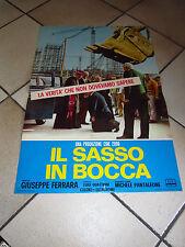 FOTOBUSTA Giuseppe Ferrara IL SASSO IN BOCCA
