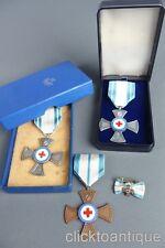 3x Bayerisches Rotes Kreuz Ehrenzeichen für Verdienste BRK