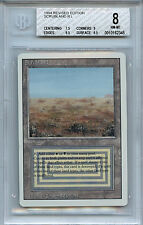 MTG Revised Dual Land Scrubland BGS 8.0 NM-MT Magic Card WOTC 2345