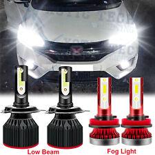 For Honda Fit 2007-2019 HR-V LED Headlights High Low Beam Fog Light 6000K Bulbs