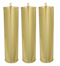 NEW Grandfather Clock Polished Solid Brass Weight Shell Set -64mm x 245mm(WS-10)