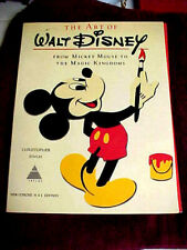 The Art Of Walt Disney Book by Christopher Finch soft cover 1975-Illustrated