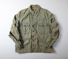 Vintage 30s/40s Ww2 13 Star Hbt Utility Jacket First Pattern Distressed Sz Xl