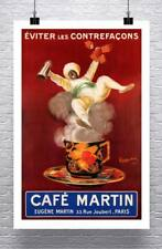 Cafe Martin Vintage 1921 Coffee Advertising Poster Rolled Canvas Giclee 24x36 in