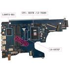 For HP 15-DA 250 G7 256 G7 258 Laptop Motherboard L49974-001 i3-7020U LA-G07EP