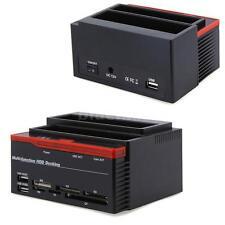 """IDE SATA 2.5"""" 3.5"""" HDD Hard Drive Disk Backup Clone Docking Dock Station L9K5"""