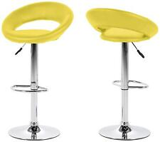 PAIR OF Bright colour Barstools Quality cushioned seat faux leather & chrome