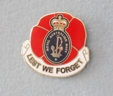 ROYAL AUSTRALIAN NAVY LEST WE FORGET LAPEL BADGE 30MM WITH 1 PIN