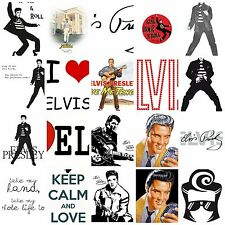 Elvis Presley T-shirt Transfer DIY Iron on Free Postage rock roll music famous
