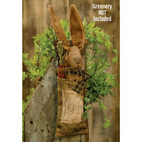 New Primitive Folk Art Grungy HERB BAG CARROT BUNNY DOLL Rabbit Easter Hanging