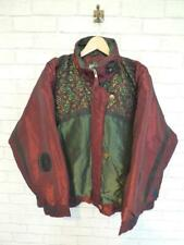 Vintage Crazy Pattern Ski Jacket Festival Windbreaker Padded Coat 90s (L) D5661