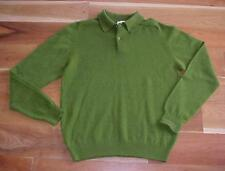 ViNTaGe PRINGLE of SCOTLAND  GREEN LAMBSWOOL SWEATER ! Sz 40 M