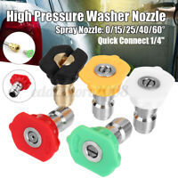 """Pressure Washer  Stainless Steel Spray Nozzle 1//4/"""" Ten Pack 0° Sizes 2-10"""
