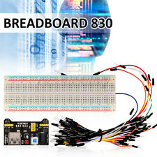 Solderless Prototype 830 Hole Breadboard MB102 Tie-Point PCB X 65pcs Jump Wires