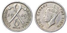 6 PENCE 1949 SOUTHERN RHODESIA #7514