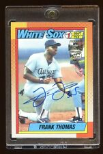 FRANK THOMAS 1990 TOPPS RC AUTOGRAPH #D 18/20 CERTIFIED AUTO TOPPS ARCHIVES HOF