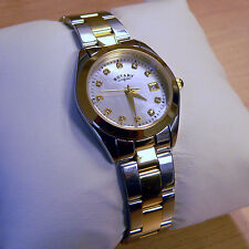 ROTARY WATCH Ladies Mother of Pearl Silver/ Gold Bracelet LB03499/40 (RL 15)
