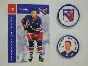 1995-96 Parkhurst '66-67 Hockey Coins & card - Earl Ingarfield, Mint condition