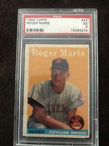 1958 Topps #47 Roger Maris PSA 5 ex