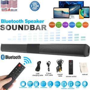 Surround Sound Bar 4 Speaker System Wireless BT Subwoofer TV Home Theater Remote