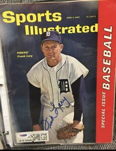 DETROIT TIGERS FRANK LARY 4/9/1962 SIGNED Sports Illustrated RARE  PSA/DNA