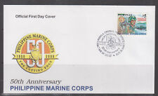 Philippine Stamps 2000 Philippine Marine Corps 50th Anniversary Complete FDC