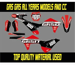 GAS GAS FULL  GRAPHICS/DECALS  KIT 50 65 85 125 250 450 ALL MODELS AND  CC
