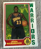 2001-02 Topps Heritage #59 Jason Richardson RC Rookie Card Warriors Dunk Champ