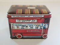 VINTAGE IAN LOGAN TIN BUS Old English Biscuit Cookie Storage Box VGOOD CONDITION