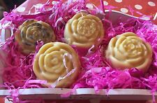 HOMEMADE BATH MELTS/SOLID MASSAGE BARS.LAVENDER, ROSE,LILY OF THE VALLEY,FUSHIA.