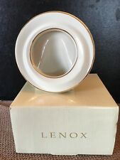 New! Classic Lenox 5 inch round picture frame with Gold rim 3 inch opening