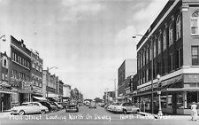 North Platte NE Main Street Storefronts Old Cars Postcard