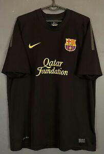 MEN NIKE FC BARCELONA 2011/2012 AWAY FOOTBALL SOCCER SHIRT JERSEY MAILLOT SIZE L