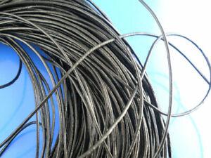 0,75 €/Meter 10 Meter SCHWARZES Lederband LEDERSCHNUR 1 mm Durchmesser basteln