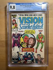 DOUBLE COVER!!! Vision and the Scarlet Witch v#2 #12 1986 CGC 9.8 NM/MT