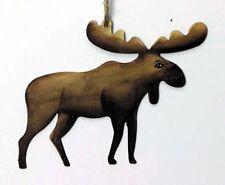 "3.75x5"" METAL MOOSE Cabin Lodge Sign Retro Primitive Country Vintage Ornament"